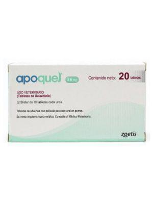 Apoquel 3.6 mg-Tratamiento Dermatitis Alérgica x 10 Tabletas