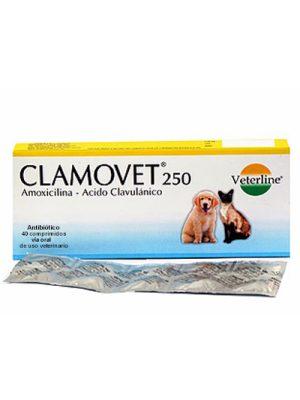 Clamovet 250 mg x 1 Tableta – Amoxicilina/Ácido Clavulánico