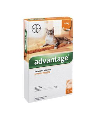 ADVANTAGE GATO Bayer hasta 4 kg- 01 pipeta